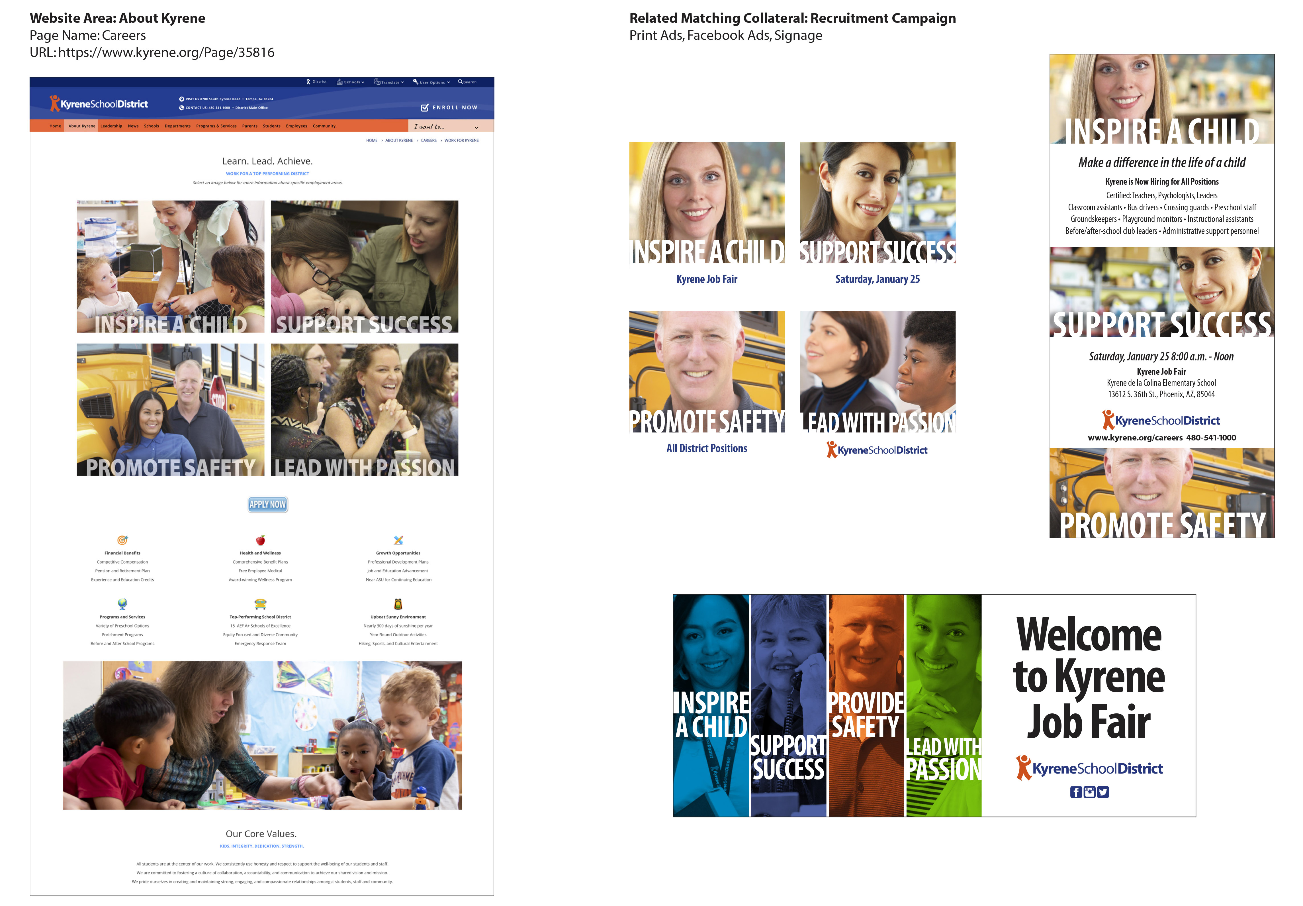 Kyrene School District Website and Collateral Makeover